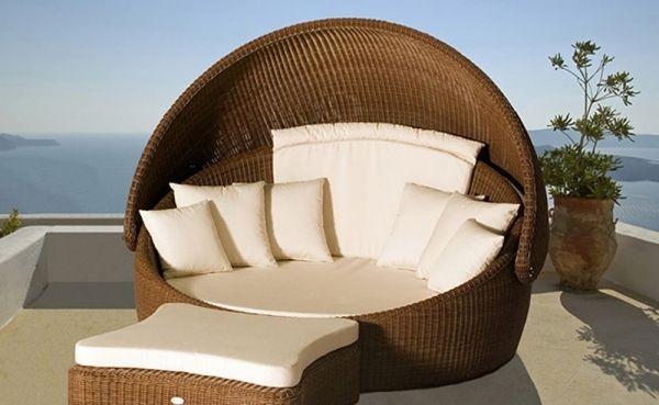 polyrattan sonneninsel terrasse garten lounge möbel hocker | Garten ...