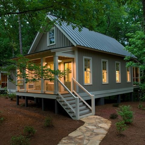 I am so ready for a tiny cottage!! Did the big house, big yard ...