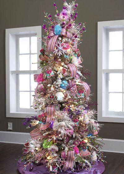 Candy Themed Christmas Tree Ideas Dot Com Women Christmas Tree Themes Unique Christmas Trees Purple Christmas