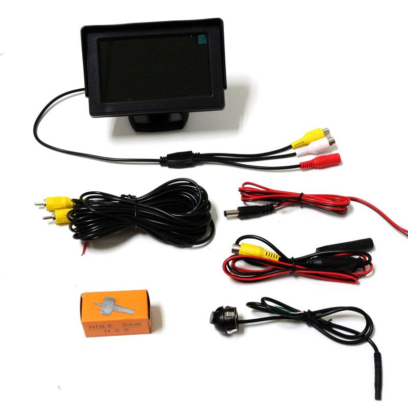 4 3 Inch Auto Tft Lcd Rearview Parking Color Monitor Mirror And