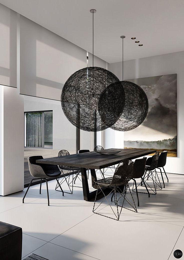 Mobili Sala Da Pranzo Design.Sala Da Pranzo Bianca E Nera 25 Idee Per Un Arredamento