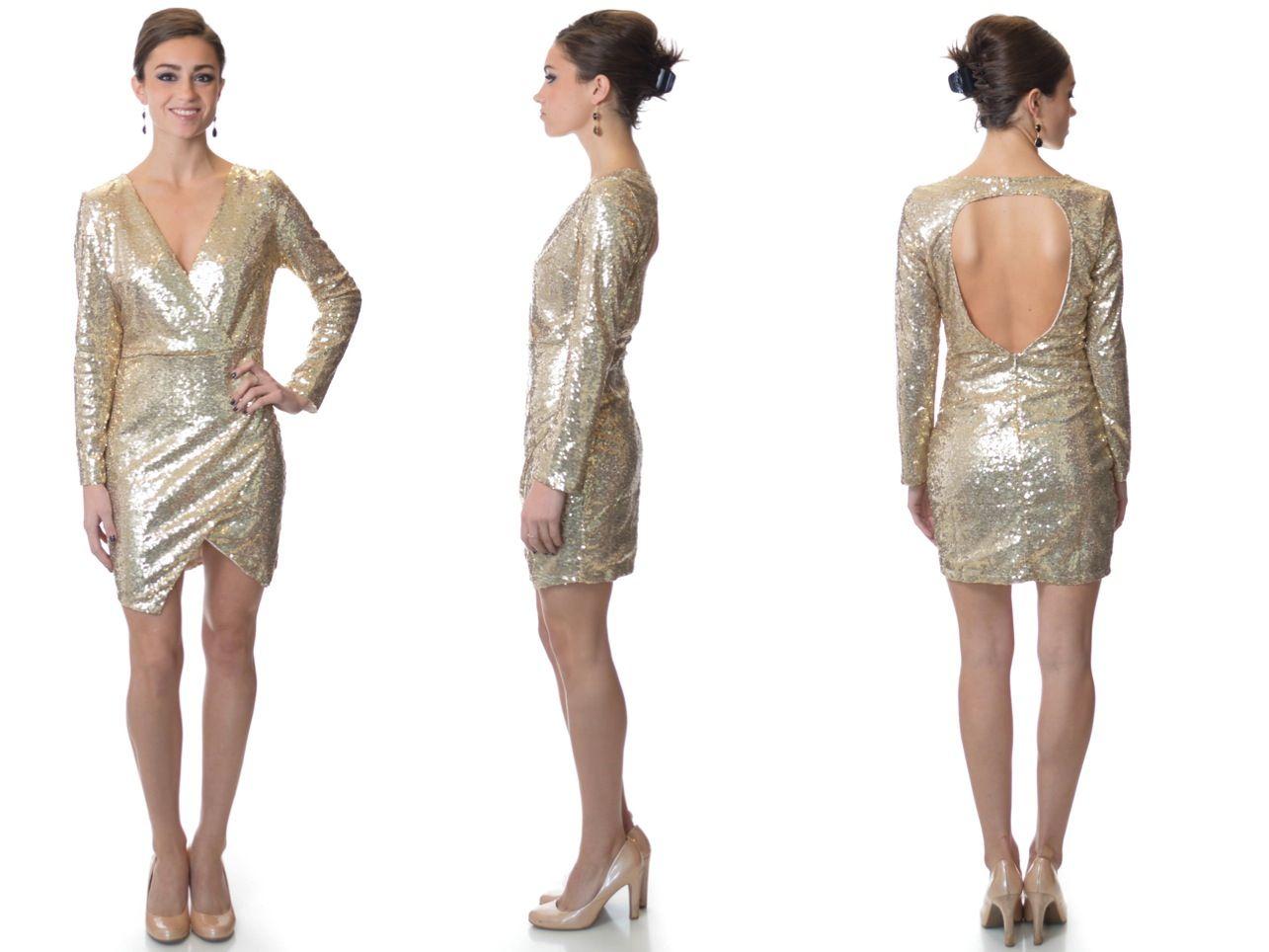 Studio 54 Gold Sequin Dress #golddress #nyedress #sequindress ...