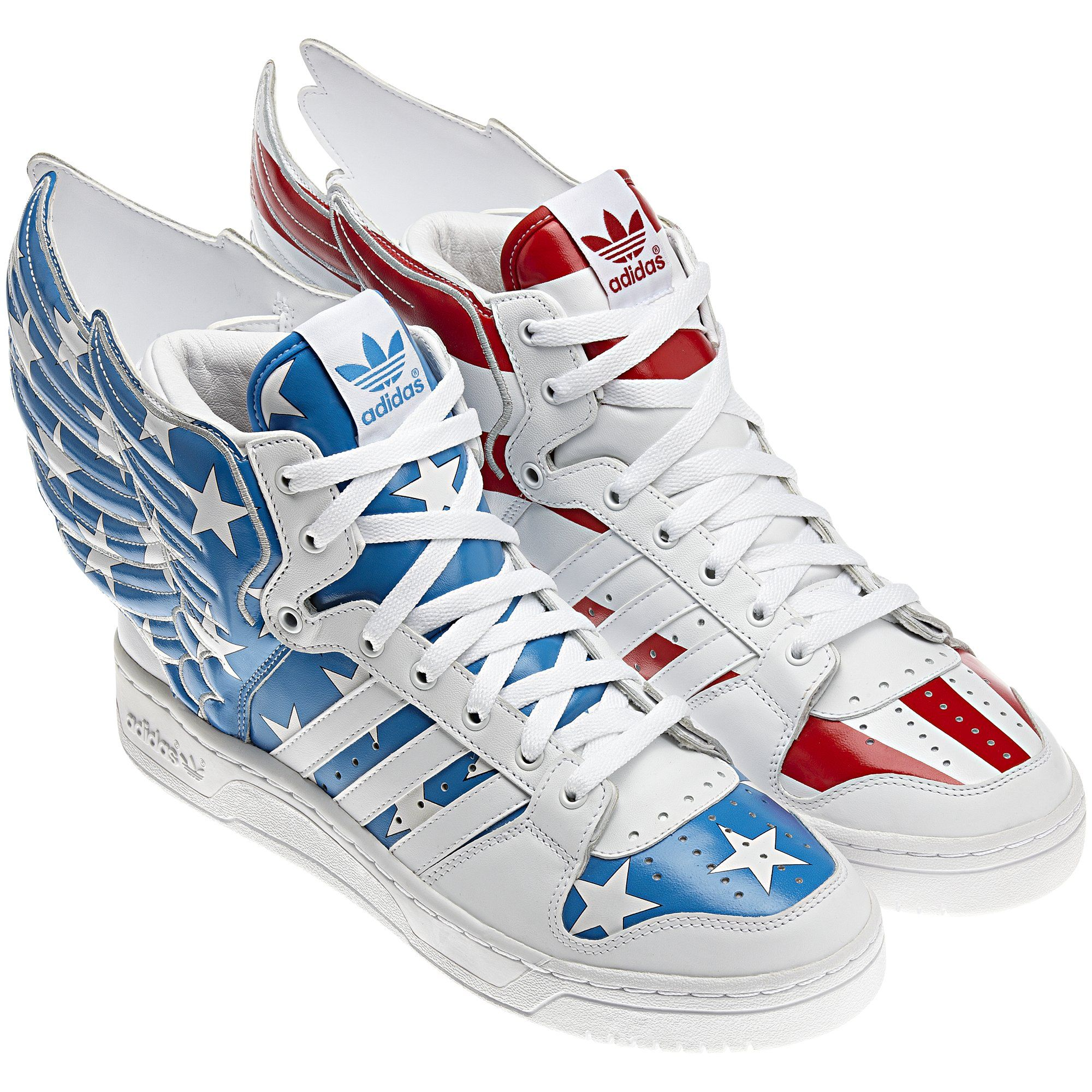 meet 3ab75 9936e Adidas Jeremy Scott Wings - Capt. America shoes