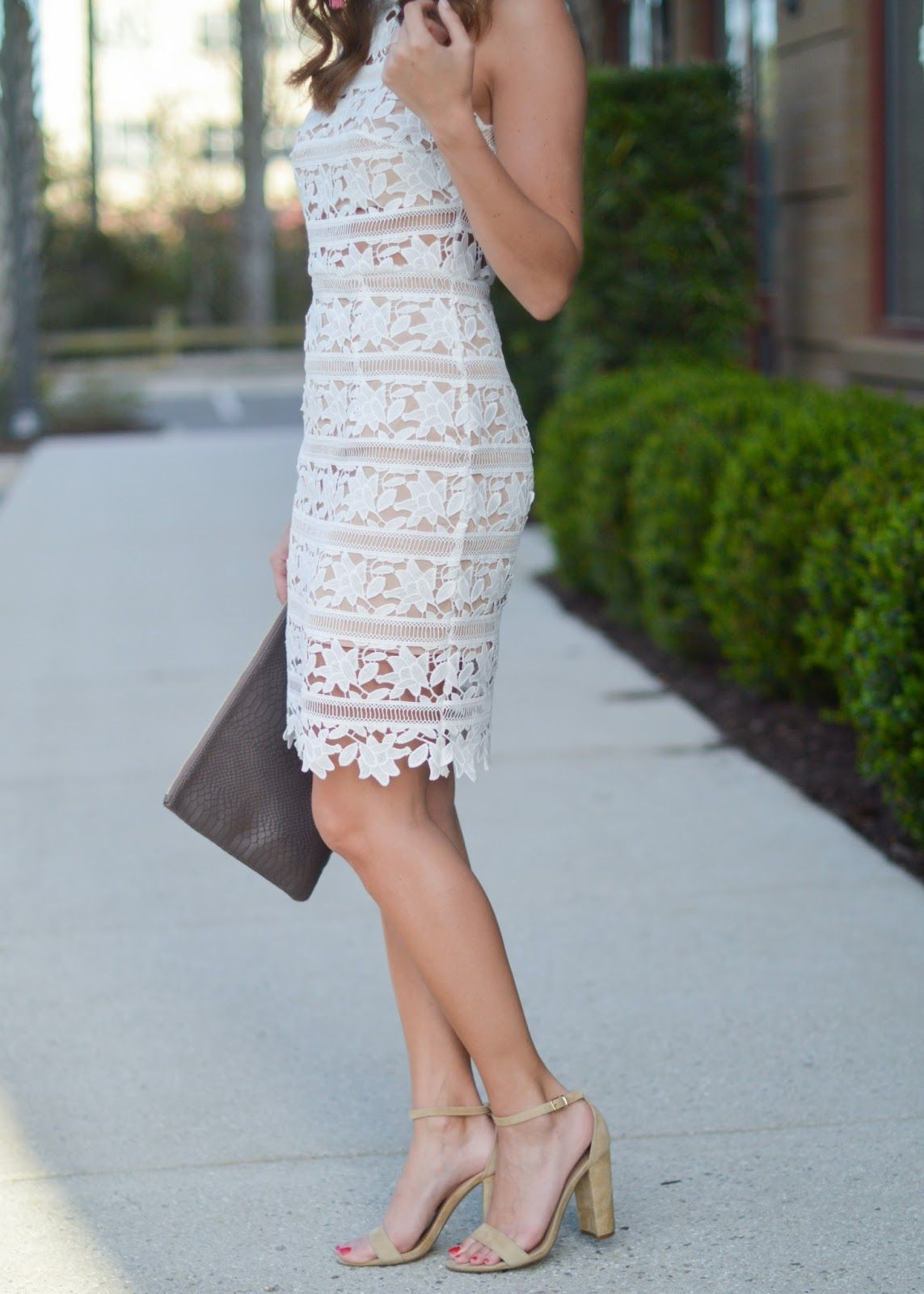 White Lace | Engagement party dresses, Shower dresses and White lace ...