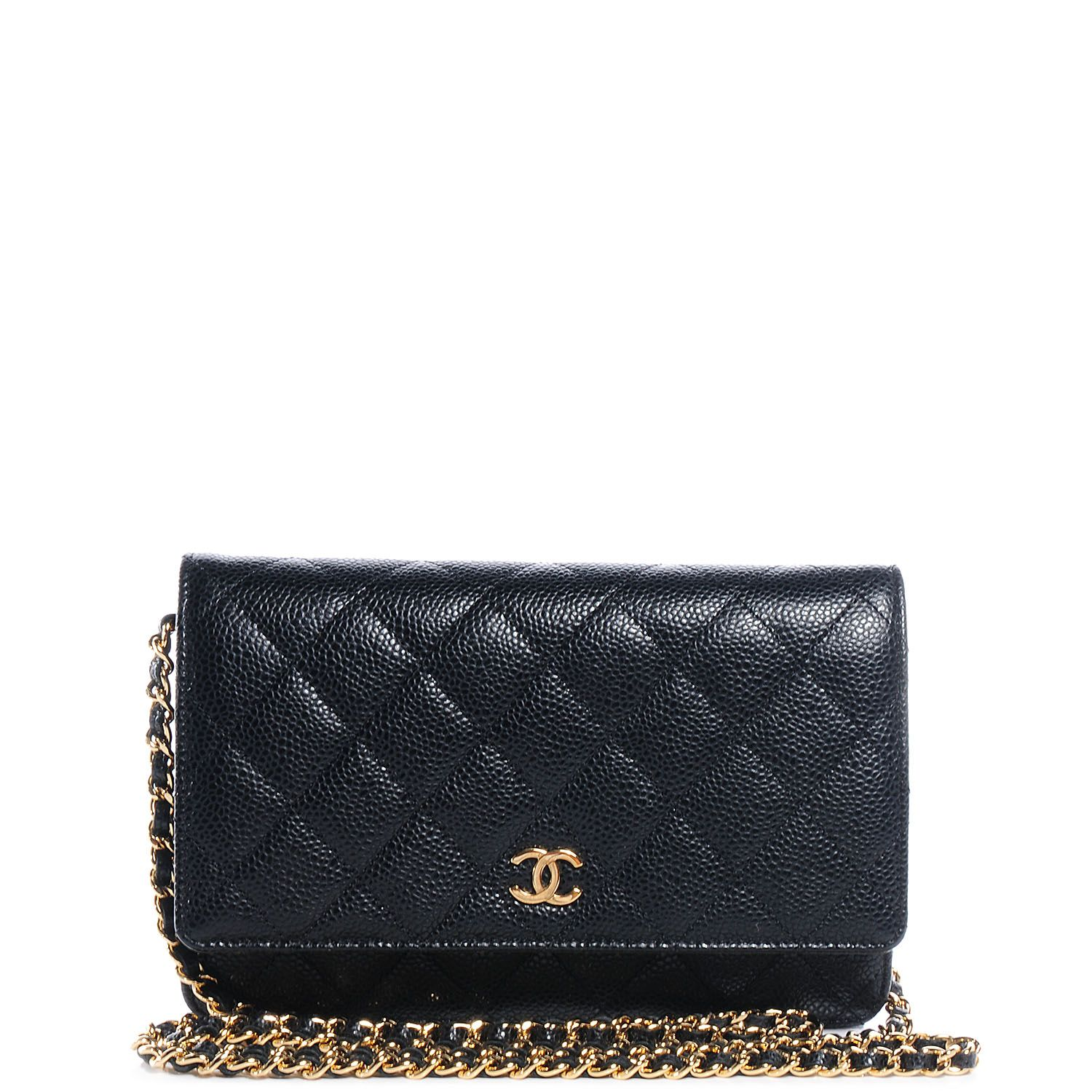663b2516f7c4 Fashionphile - CHANEL Caviar Quilted Wallet on Chain WOC Black ...