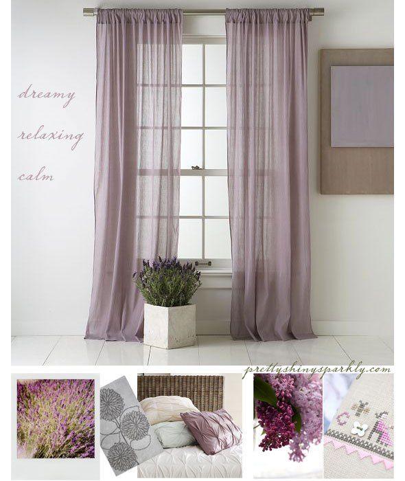 Dreamy Lavender Amethyst Bedroom Ideas Fioletovye Shtory Spalnya Shtory