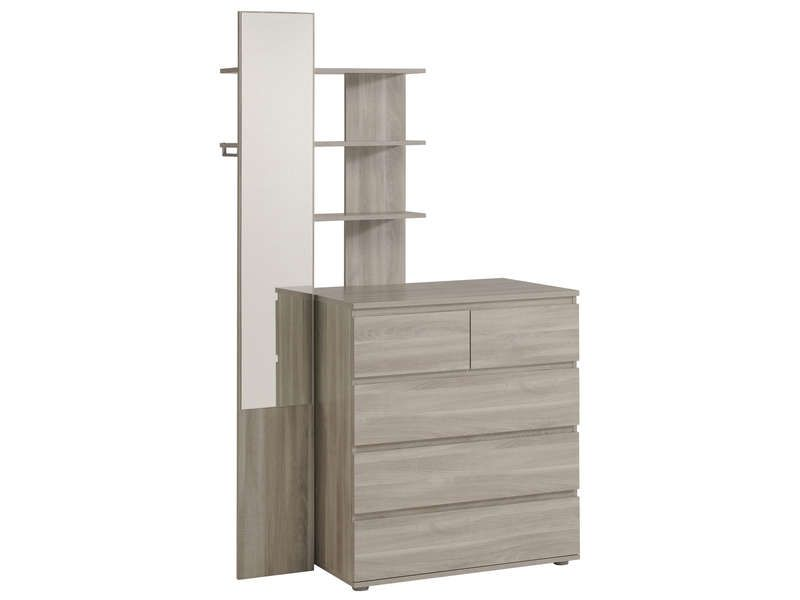 Captivating Réhausse Commode MALLOW Coloris Chêne Silex   Pas Cher ? Cu0027est Sur Conforama.  Mirrored WardrobeBedroom ...