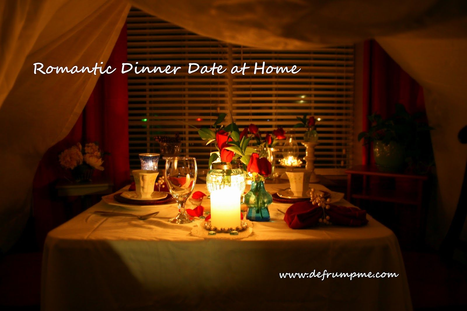 Pretty Ideas For A Romantic Night At Home. Romantic Dinner Date at Home  Make a tent out of white sheets in the living room set table under it and light lots candles romantic home date Google Search Romance Pinterest