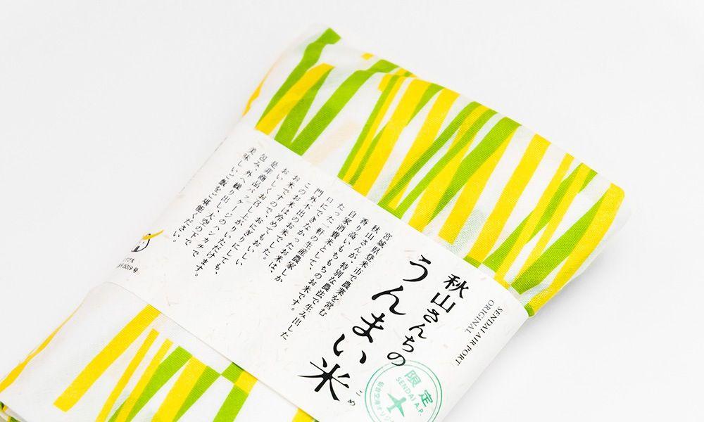 秋山さんちのうんまい米 稲デザイン1 パッケージ