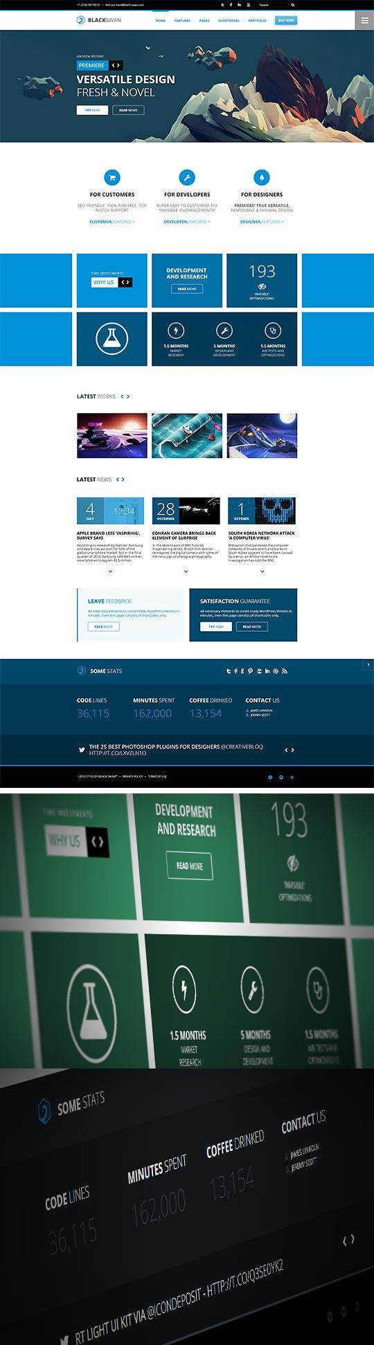 BlackSwan #WordPress theme - #flat #versatile #design