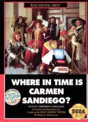 Where In Time Is Carmen Sandiego Sega Genesis Carmen Sandiego Sega Genesis Games Sega Genesis