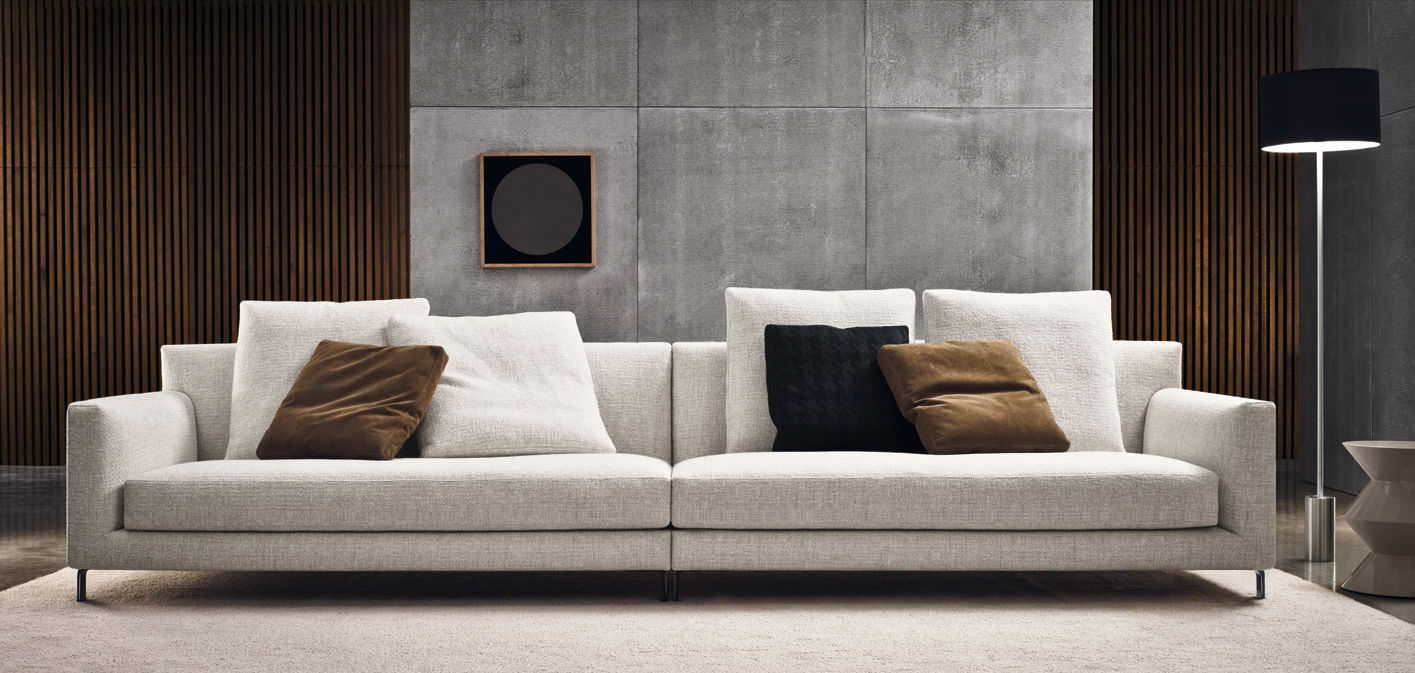 Moss by Arketipo is a modern sofa with a minimal and sophisticated ...