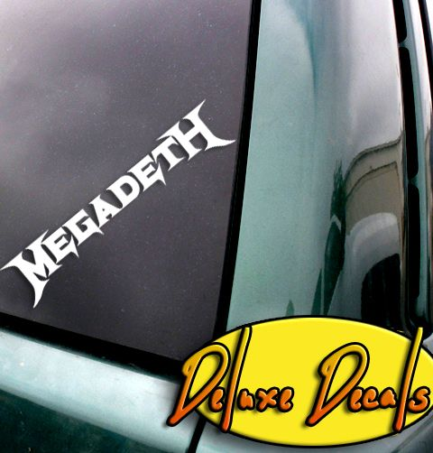 Megadeth band logo decal www deluxedecals net