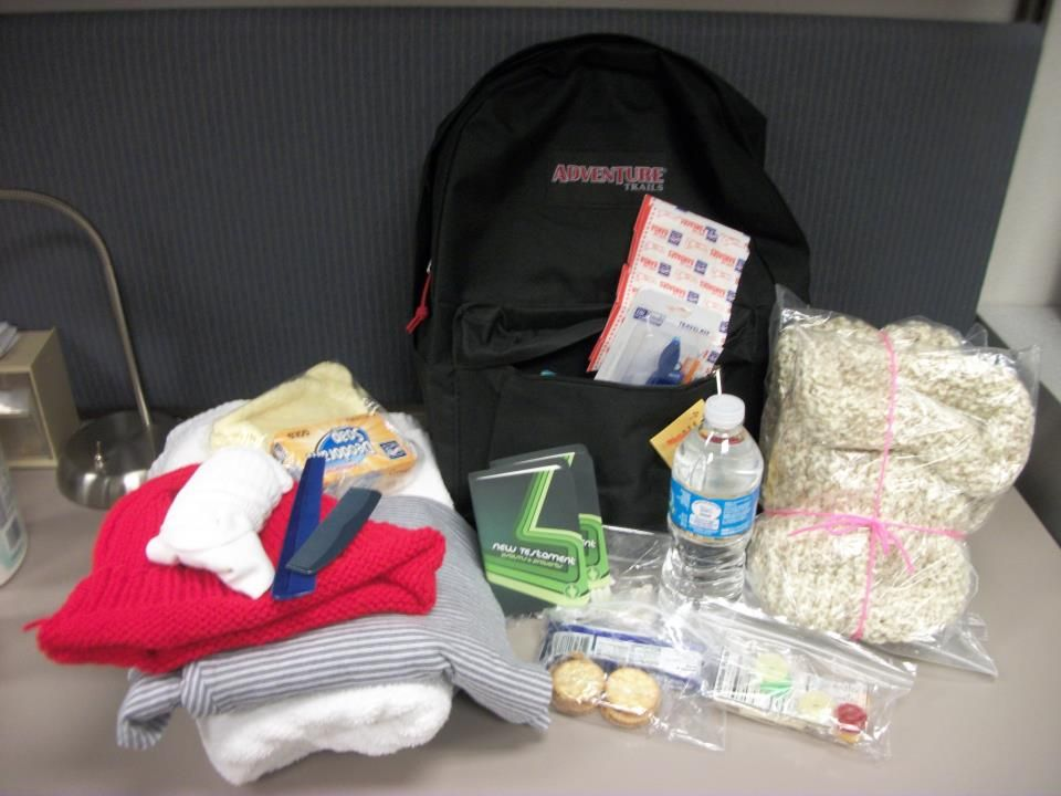 """The Moravian Church """"Love In Action"""" program has given the Chaska Police Department six backpacks containing various toiletries, clothing items to keep warm, non-perishable food, etc. CPD will be giving these out to anyone that is homeless or in need. Chaska Minnesota MN"""
