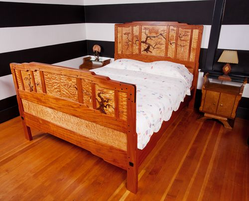 This Is A Greene And Greene Style Bed I Made With Mahogany Maple