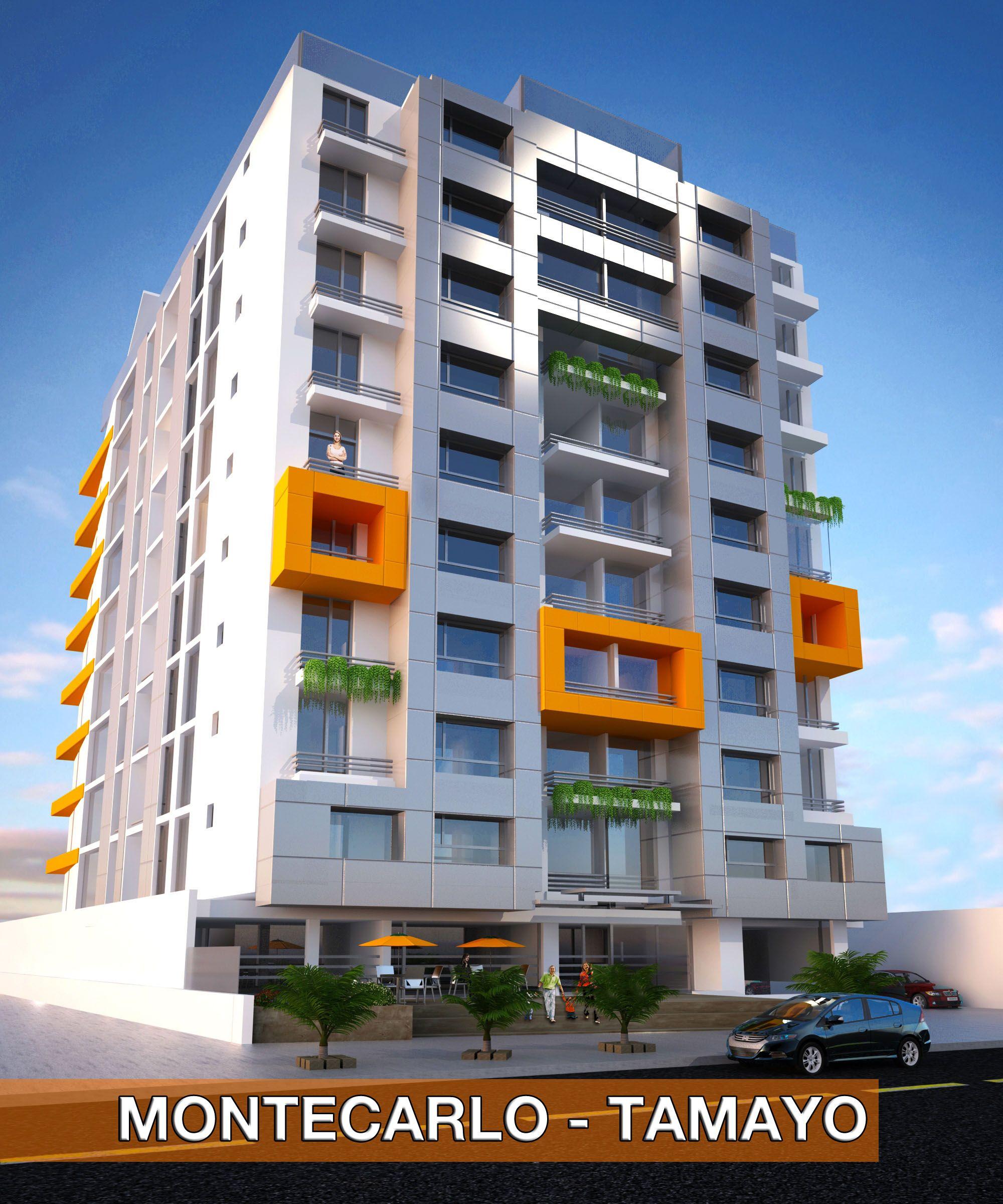 Un edificio innovador con tecnolog a de punta ubicado en for Fachadas modernas para departamentos