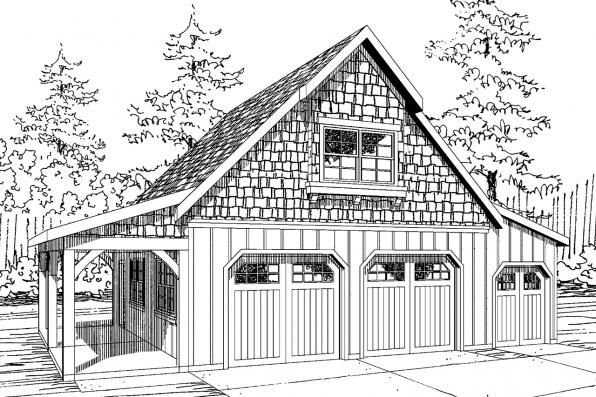 2 Car Garage W Attic Garage Workshop Plans Craftsman House Plans Craftsman Style House Plans