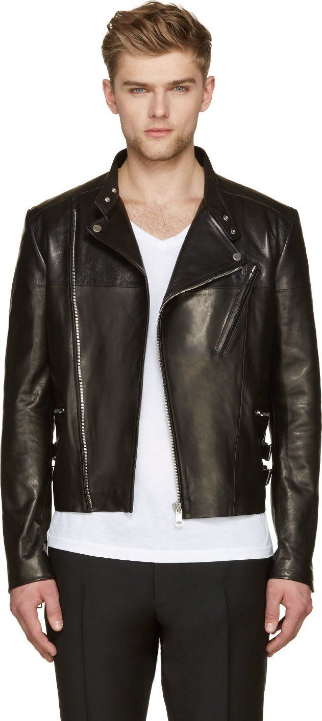 Asos Black Highlights Trendy Men S Jackets Longer Shirts For Spring Summer 2015 Collection Fitted Biker Jacket Black Leather Biker Jacket Biker Jacket Men [ 1409 x 631 Pixel ]