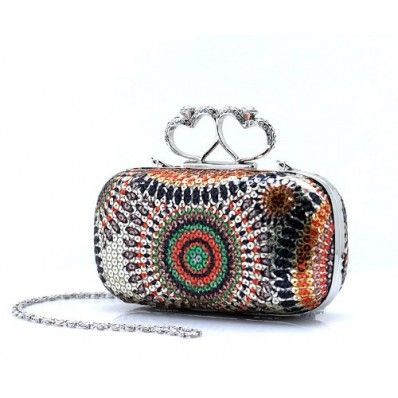 2017 New Time-limited Knucklebox Evening Bags Fashion Sequined Women  Geometric Lady Bridesmaid Party Bags Clutch 39ca58d00c5b4