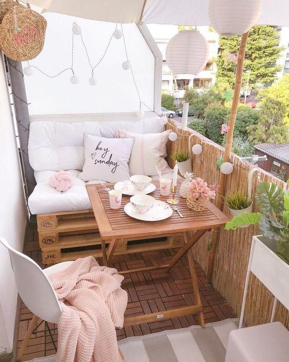 Balkondekoration – Dekovorschläge & Trends, DIY-I – Kleiner Balkon Ideen
