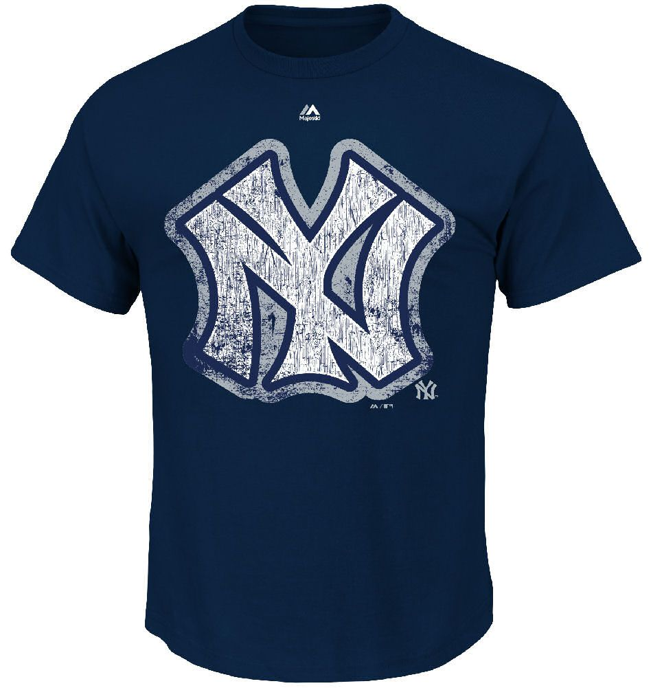 New York Yankees Navy Cooperstown League Supreme T Shirt by Majestic $26.95