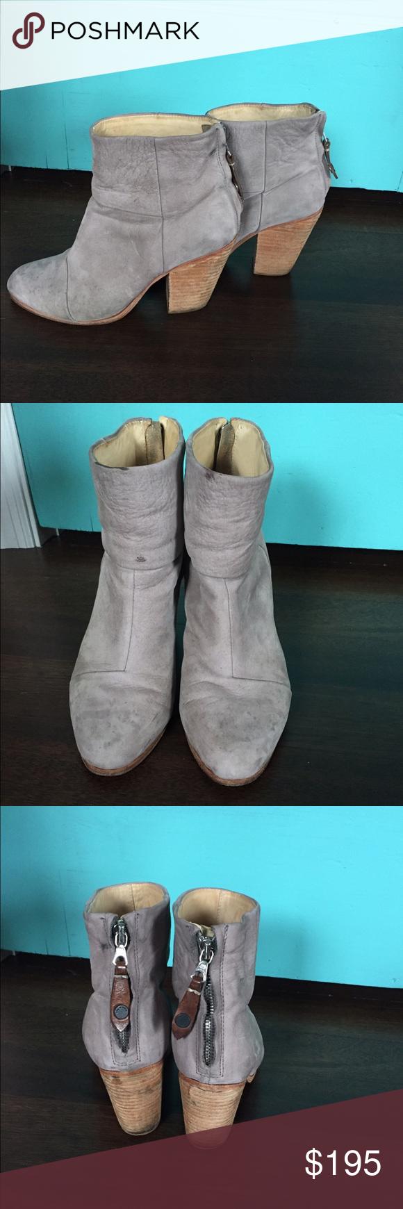 Rag & Bone Newbury ankle booties. GUC rag & bone Newbury bootie in size 7.5. Color gray. rag & bone Shoes