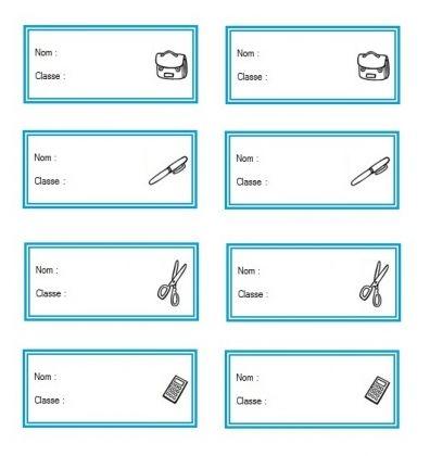 etiquettes scolaires a imprimer pour enfant gratuites cartes printable enfants pinterest. Black Bedroom Furniture Sets. Home Design Ideas