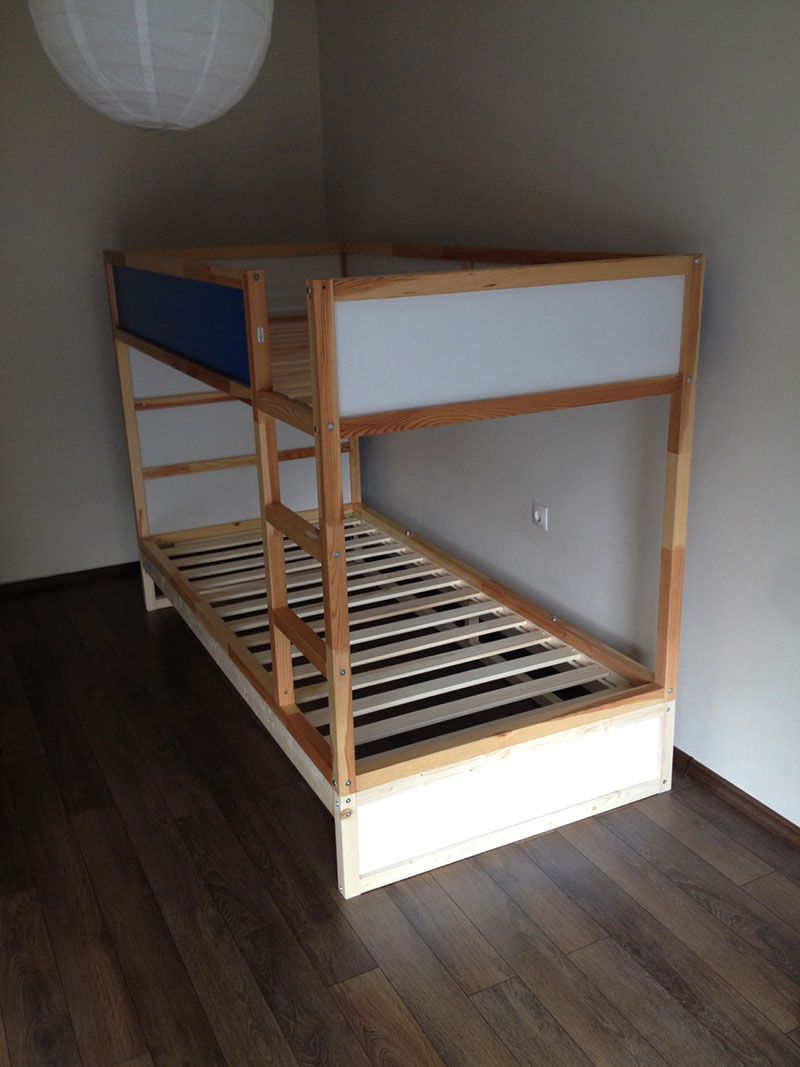 Ikea Kura Double Bunk Bed Extra Hidden Bed Sleeps 3 Ikea Ikea Kura