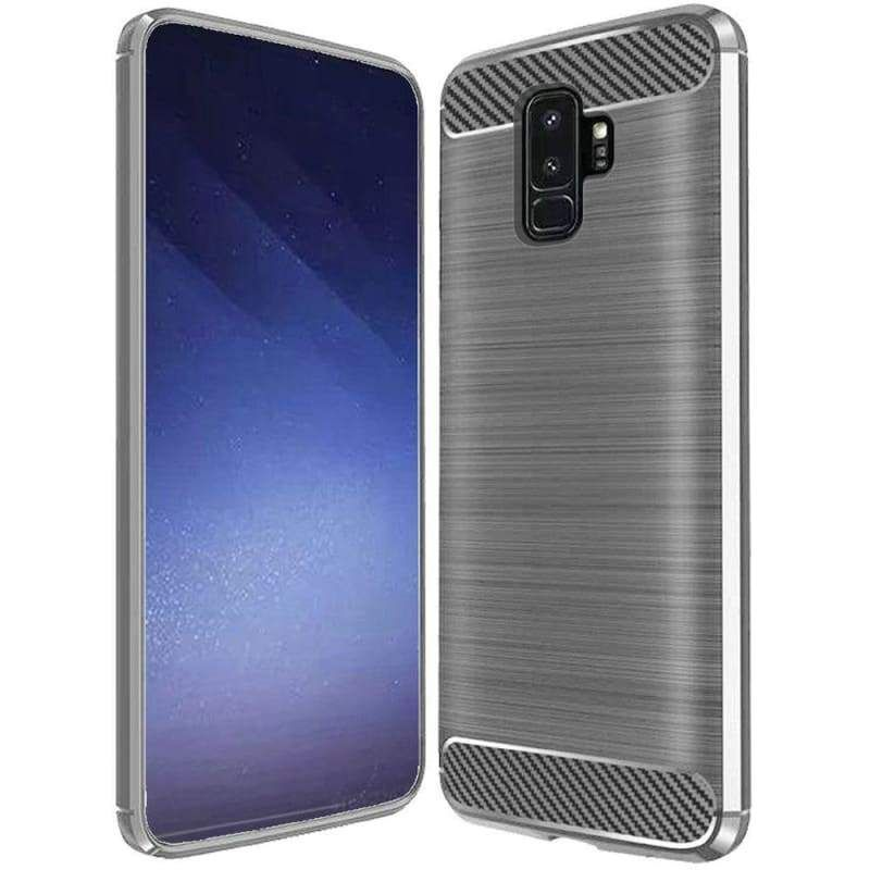 Carbon Fiber Design Lined Brushed Tpu Case Grey For Samsung Galaxy S9 Plus In 2020 Samsung Samsung Galaxy Samsung Galaxy S9