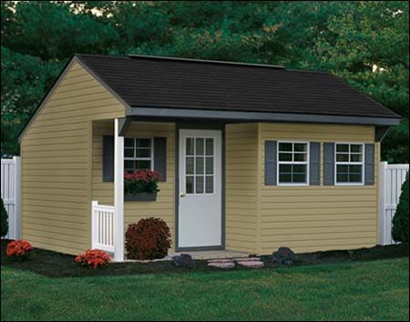 12 X 36 Porch Nook Shed With Vinyl Siding Hogar