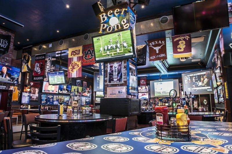 Now this is a sports bar that likes to moonlight as a