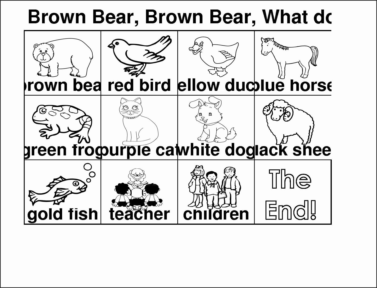 Brown Bear Brown Bear What Do You See Mini Book Rtllh Fresh Brown Bear Coloring Page Eric Carle Many Interesting Bear Coloring Pages Brown Bear Book Mini Books