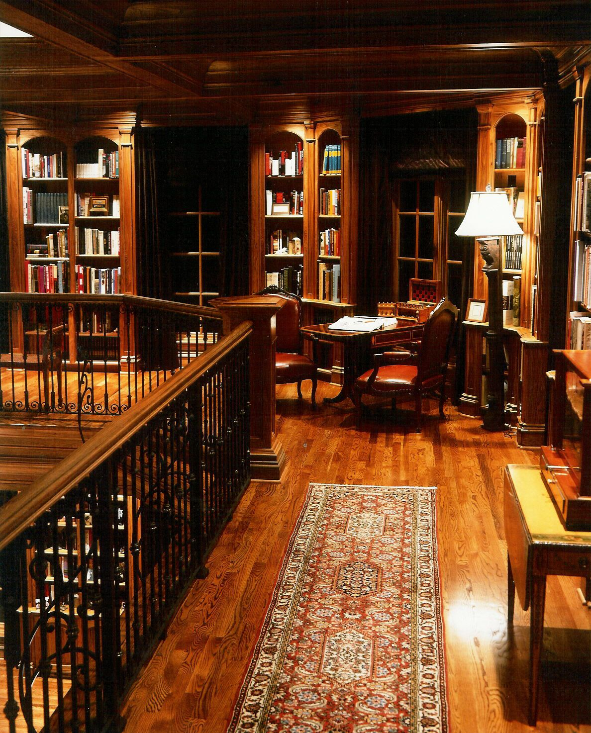Classic Study Room Design: Love The Dark Wood!