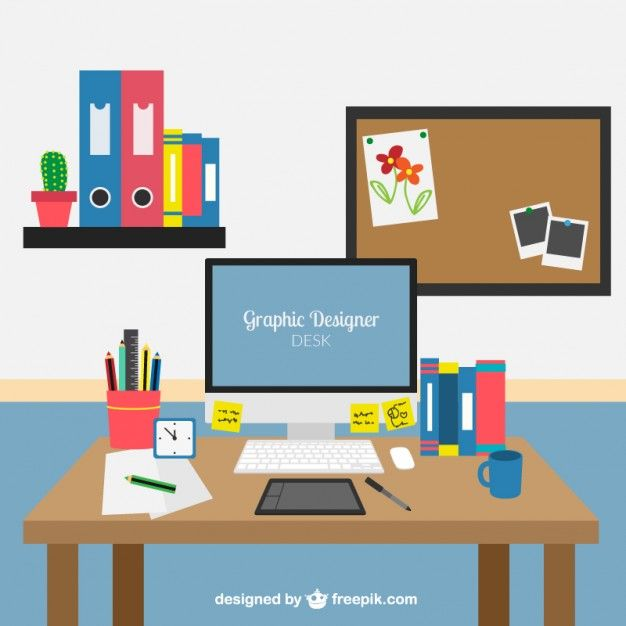 graphic designer desk vector premium download free small width related images popular - Graphic Design Desks