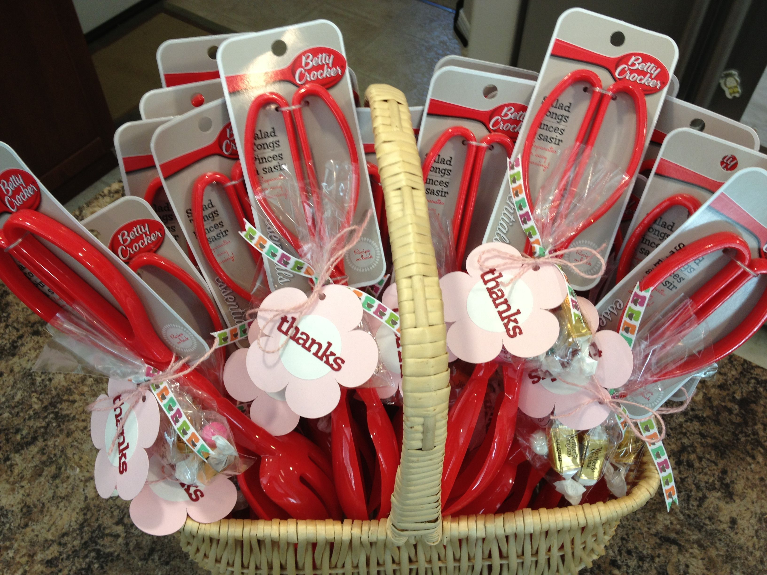 Kitchen Wedding Gifts: Favors For Kitchen-themed Bridal Shower. Salad Tongs With