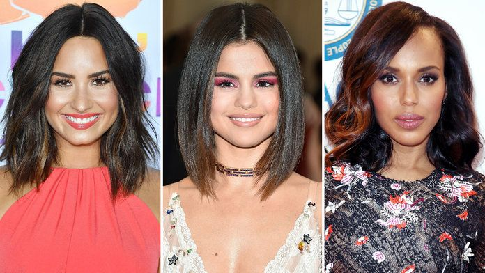 Hair Style Questions: The Best Celebrity Lob Haircuts Of 2017