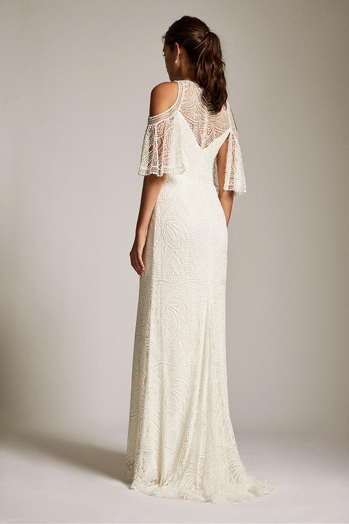 Tadashi Shoji Luz Gown Bbo18048lbr Size 6 Bridal Gown Bravobride Casual Wedding Dress Simple Wedding Gowns Sewing Wedding Dress