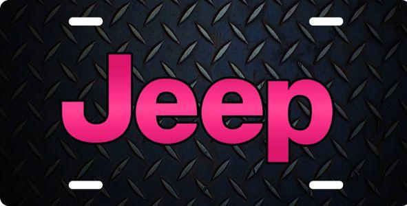 Jeep Logo Aluminum License Plate Auto Tag Off Road Rock Crawl Dirt Mud Chompcreations Vanity License Plates Jeep Car Tags