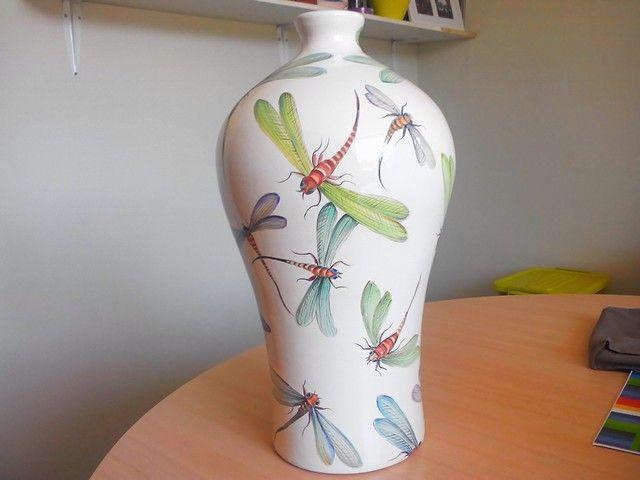 Jarron Libelulas pintado por Lila Esbir