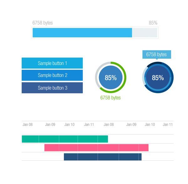 load gantt chart on Behance Calendar, Timeline, Progress Designs