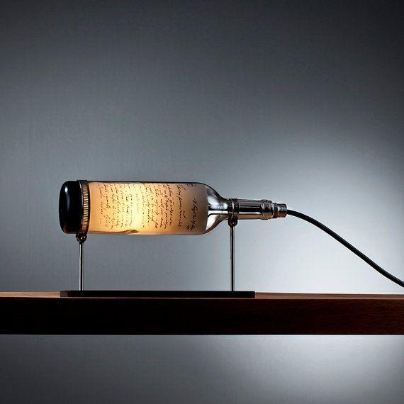 Wine bottle table lamp with industrial feel lamps pinterest wine bottle table lamp with industrial feel aloadofball Choice Image
