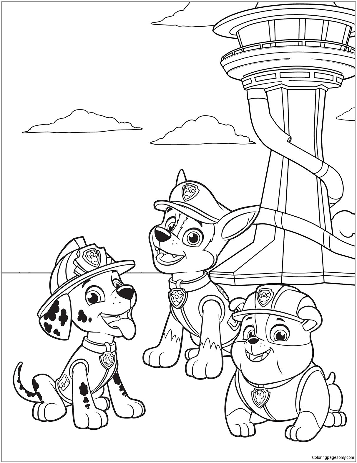 Paw Patrol 38 Coloring Page | Coloring Pages | Pinterest ...