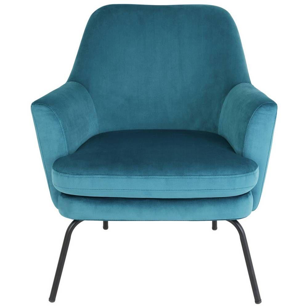 Buy habitat celine velvet accent chair teal armchairs
