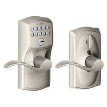 Schlage Electronic Keypad Door Lock In Satin Nickel