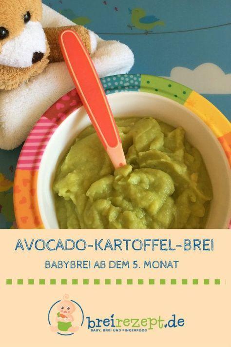 Avocado-Brei mit Kartoffel #fishmeal
