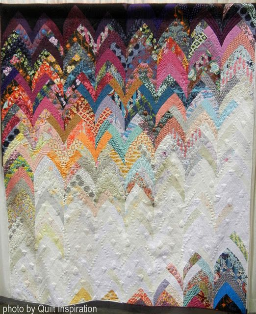 "Image result for ""Cascade"" Victoria Findlay Wolfe, 2016, quilted by Shelly Pagliai"