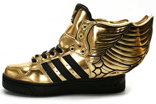 Adidas Jeremy Scott Wings in Gold/Black