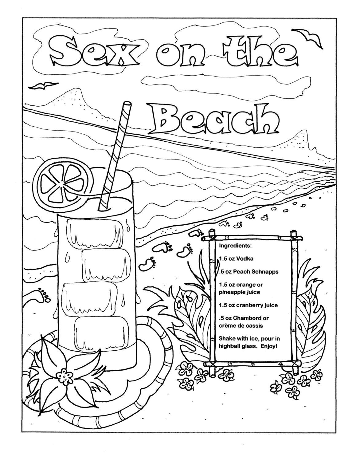 printable coloring page for adults sex on the by coloringcocktails
