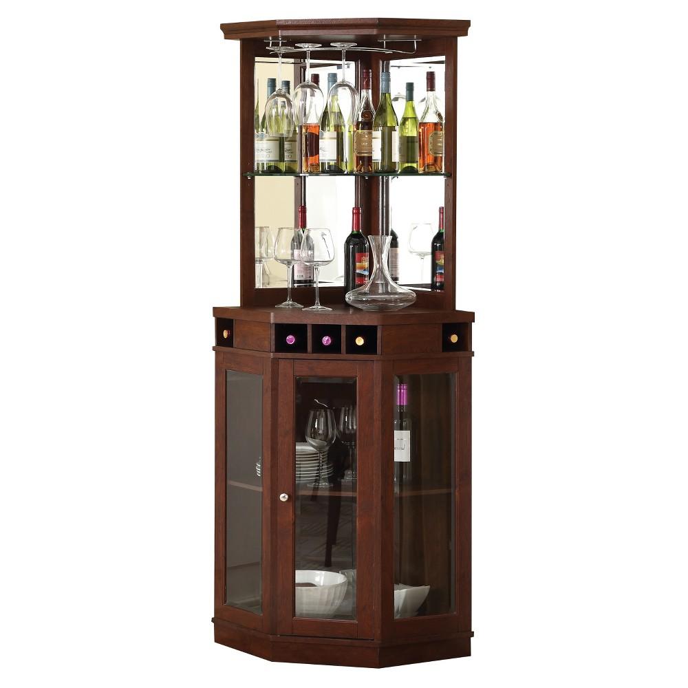 Small Corner Bar Ideas: Corner Bar Unit - Mahogany - Home Source, Brown