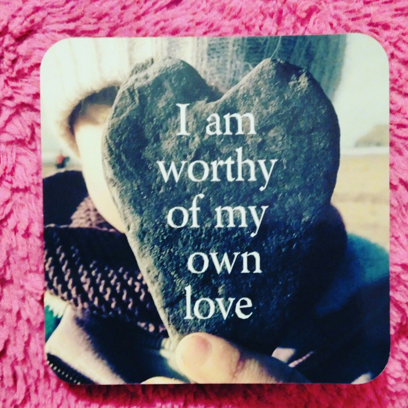 Affirmation: I am worthy of my own love Write a love note to yourself. What is it that you most need or want to hear? (Life Loves You Cards)